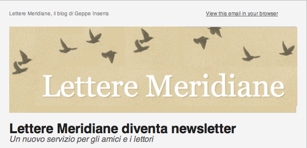 Lettere Meridiane diventa anche newsletter