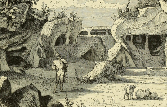 La bellezza struggente delle Catacombe di Siponto in un'illustrazione d'epoca