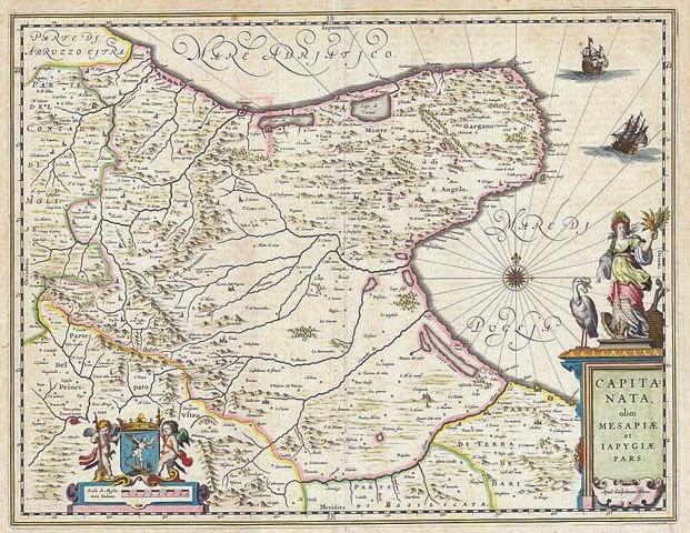 La più bella mappa della Capitanata adesso è di pubblico dominio