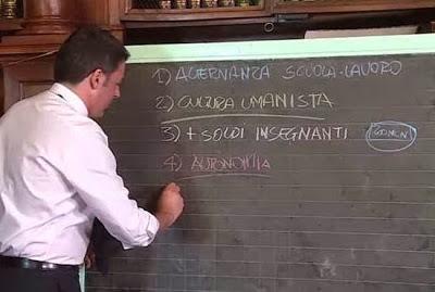 Perchè sulla scuola Renzi ha ragione. Almeno grammaticalmente.