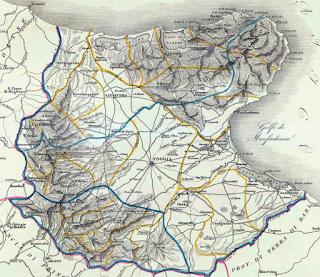 In alta risoluzione, ecco la mappa della Capitanata di Zuccagni-Orlandini