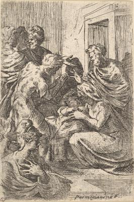 In regalo la riproduzione della Natività del Parmigianino