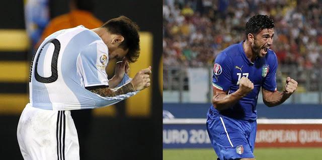 Messi e Pellè, le due facce del pallone