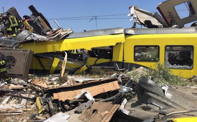 Disastro di Corato, peggiora il bilancio: 25 morti, 50 feriti, ci sono dispersi