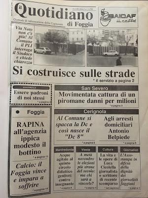 Trent'anni fa nasceva Il Quotidiano di Foggia