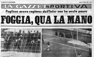 Foggia-Inter 3-2, la partita della leggenda
