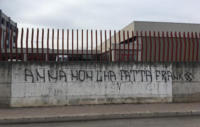 Scritte neonaziste a Foggia