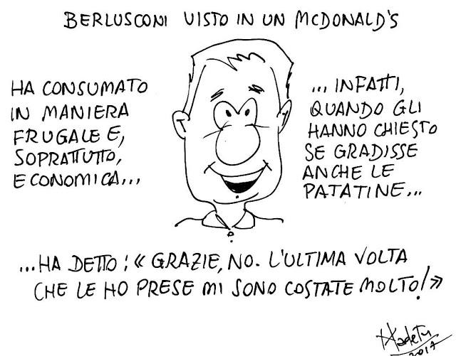 Berlusconi al Mc Donald rinuncia alle patatine…