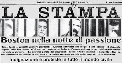 23 agosto 1927, la disperazione della famiglia Sacco e di Torremaggiore