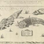 """On line l'antica """"veduta a volo d'uccello """" delle Tremiti di Mortier e Blaeu"""