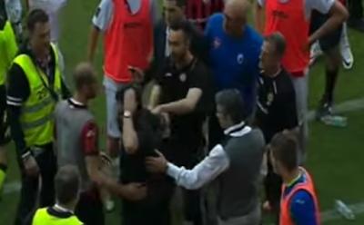 """De Zerbi punge Gattuso: """"Spero che domenica non abbia la borsa di ghiaccio in testa"""""""
