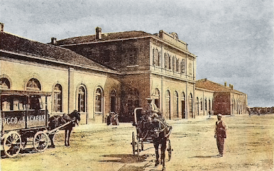 L'antica stazione di Foggia nella magia della colorizzazione