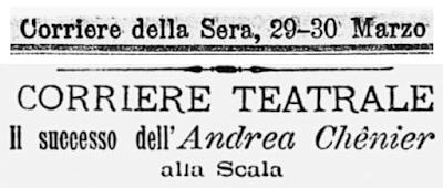 La prima dell'Andrea Chénier a Milano: come Giordano conquistò l'Italia musicale