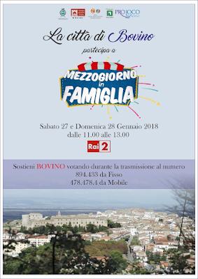 """Bovino in lizza a """"Mezzogiorno in Famiglia"""" su Rai Due: sosteniamola!"""