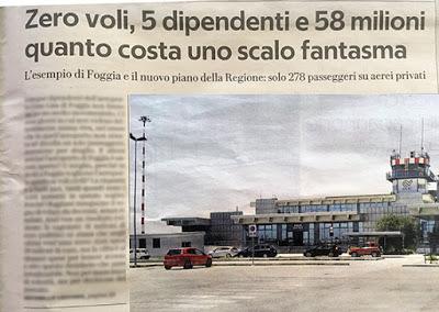 """Il siluro di Repubblica al Gino Lisa: """"È un aeroporto fantasma"""""""