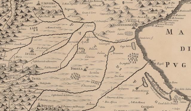 Su Gallica la mappa della Capitanata di de Rossi, tra le più antiche e dettagliate
