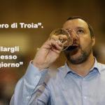 Salvini assaggia il Nero di Troia