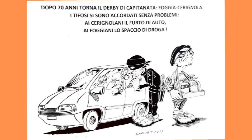 Foggia-Cerignola, derby da satira