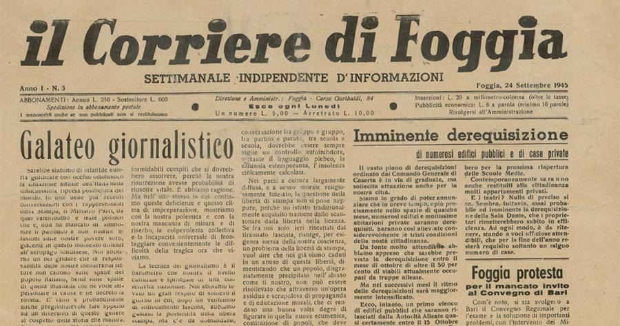 """Svelato il mistero su due antichigiornali foggiani """"scomparsi"""" (di Maurizio De Tullio)"""