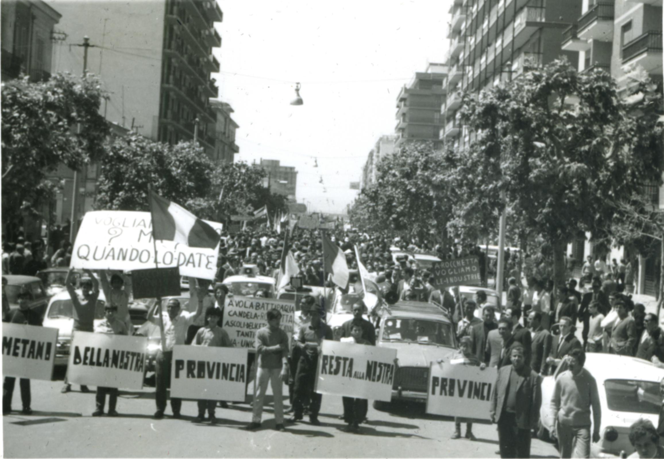 La marcia del metano, indimenticabile pagina di storia civile
