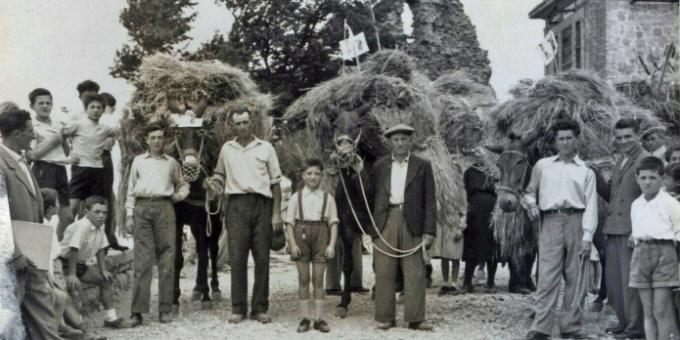 Una processione di contadini in Daunia. Ma dove?