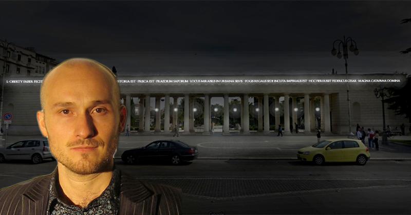 Ricostruire il Palazzo di Federico II. Con la luce